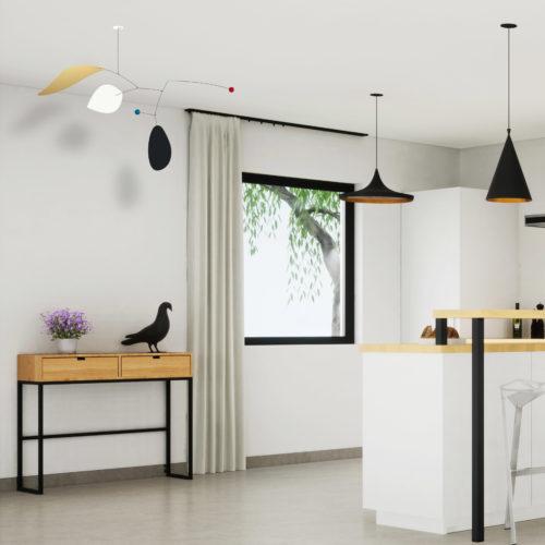 Agon, Mobile Décoratif Personnalisable Noir Blanc Et Or Facile à Installer Dans Une Cuisine Moderne Et Design | Virvoltan