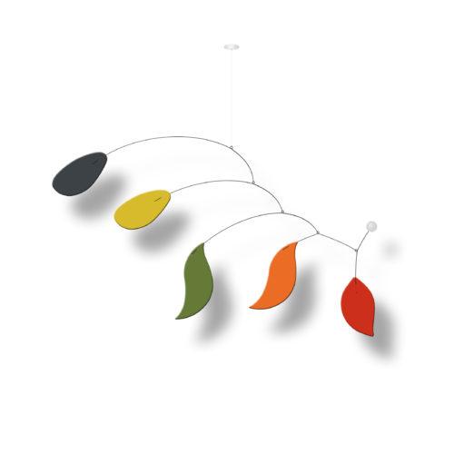 Mobile Calder Personnalisable Bolero sur fond blanc | Virvoltan
