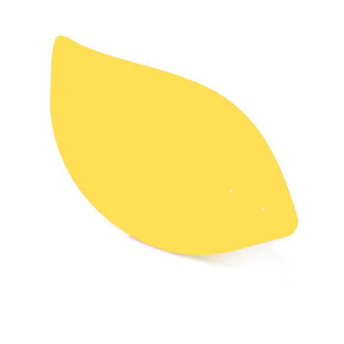 Citron jaune, feuille d'acier laquée pou mobile Calder personnalisable | Virvoltan