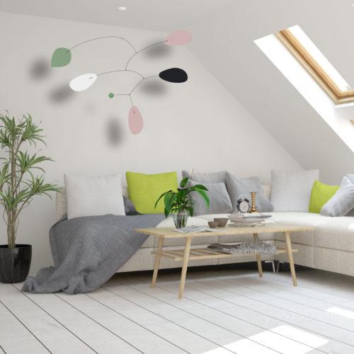 Mobile Calder Personnalisable Ogelala rose vert et blanc | Virvoltan