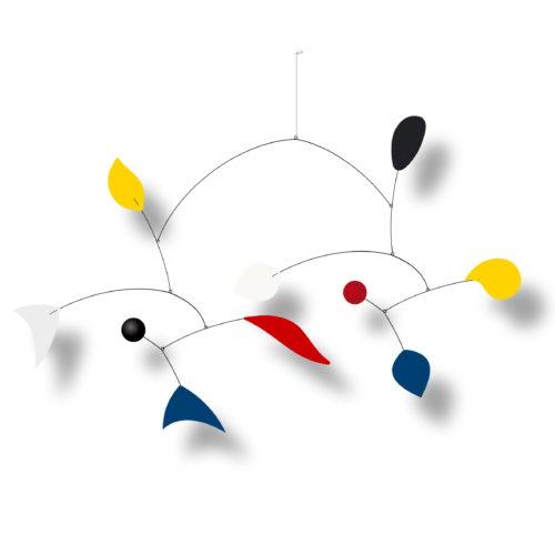 Parade, Mobile Décoratif Personnalisable De Style Calder Couleurs primaires Noir et Blanc Facile à Installer Avec Son Crochet adhésif | Virvoltan