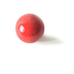 Red lacquered beech ball, Virvoltan decorative mobile accessorie
