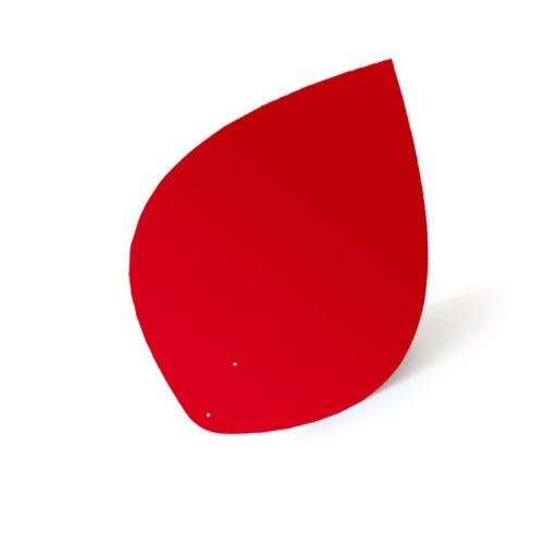 Feuille rouge, feuille d'acier laquée pou mobile Calder personnalisable | Virvoltan