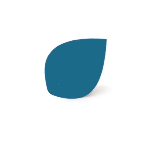 Azure blue leaf, Virvoltan thin lacquered blade