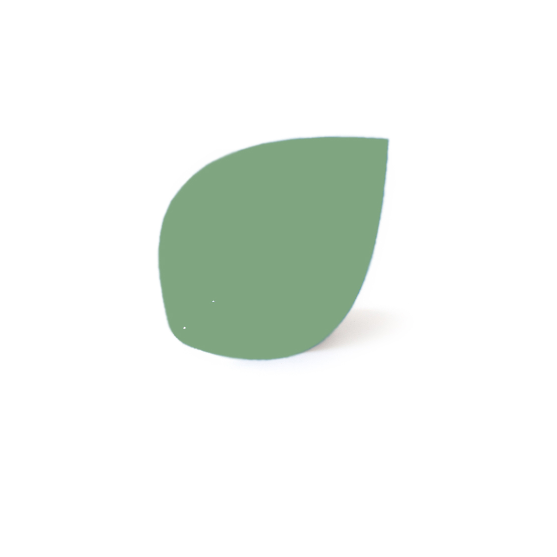 Almond green leaf, Virvoltan thin lacquered blade