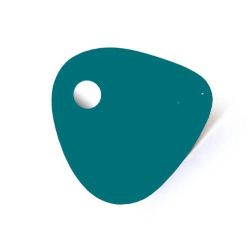 Mediator bleu eau, feuille d'acier laquée pou mobile Calder personnalisable | Virvoltan