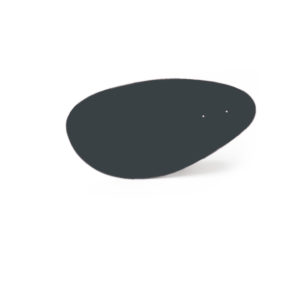 Charcoal gray menhir, Virvoltan thin lacquered blade
