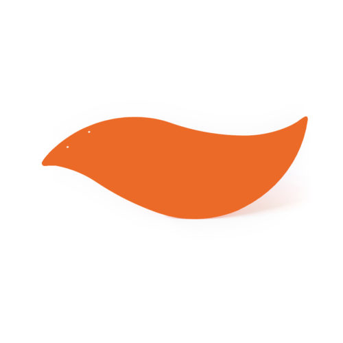 Red orange bird, Virvoltan thin lacquered blade