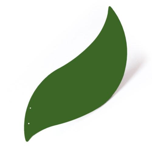 Oiseau vert fougère, feuille d'acier laquée pou mobile Calder personnalisable | Virvoltan