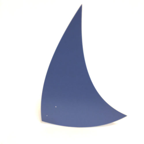 Blue Spinnaker, lacquered steel foil for Virvoltan hanging mobile