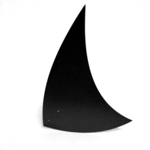 Spinnaker noir, feuille d'acier laquée pou mobile Calder personnalisable | Virvoltan