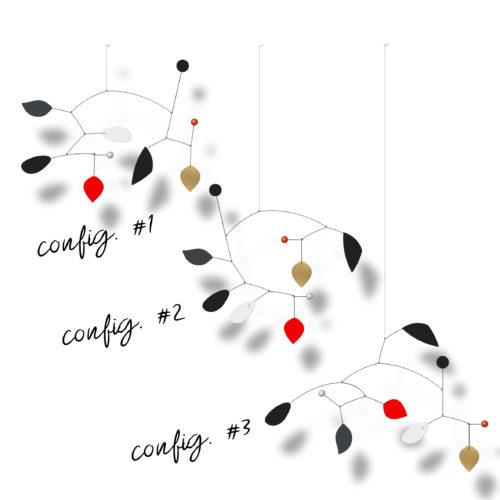 Mobiles Calder Personnalisables Modèle Composé De Pales Noir Gris Blanc Et Rouge 3 Configurations De Composition Au Choix | Virvoltan