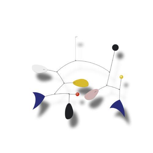 Mobile Calder Personnalisable Bleu Majorelle Jaune Colza Blanc Et Noir