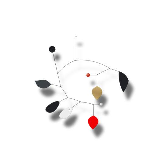 Mobile Calder Personnalisable Rouge Blanc Et Noir | Virvoltan