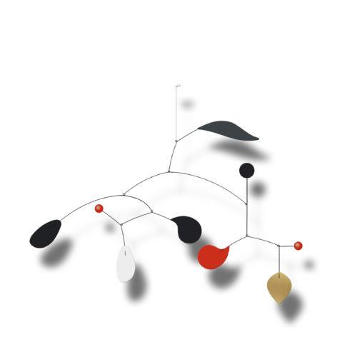 Mobile Décoratif Personnalisable Rouge Blanc Gris Anthracite Et Noir | Virvoltan