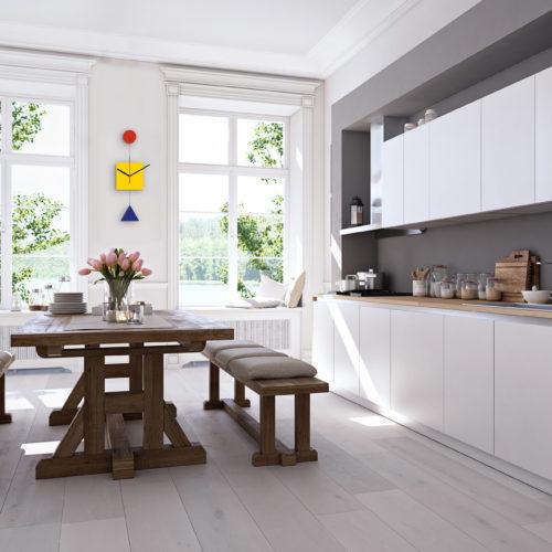 Primary Horloge Bauhaus Personnalisable Bauhaus 100 Ans Dans Une Cuisine Salle A Manger | Virvoltan