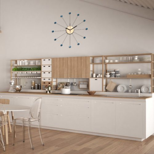 Horloge Murale Personnalisable Dans Une Cuisine Moderne Pendule En Forme De Soleil | Virvoltan