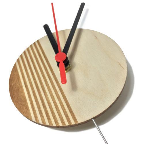 Horloge Murale Personnalisable Composée D'Un Disque De Bois Gravé | Virvoltan