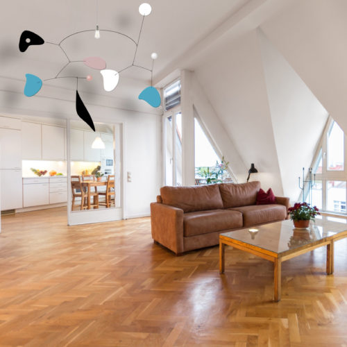 Checkmate, Ceiling lighting mobile | Virvoltan