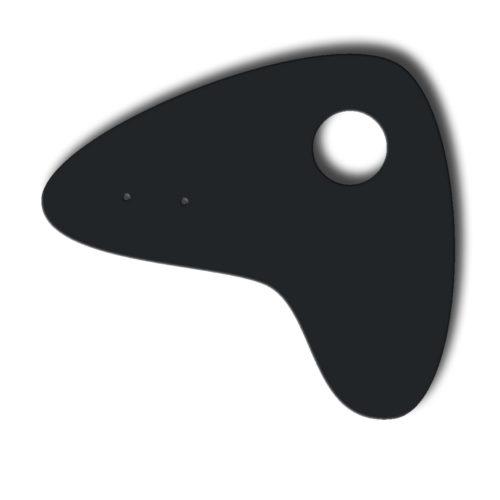 Boomerang noir, feuille d'acier laquée pou mobile Calder personnalisable | Virvoltan
