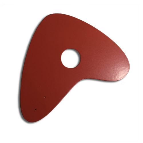 Red Boomerang, lacquered steel sheet for customizable Calder mobile | Virvoltan