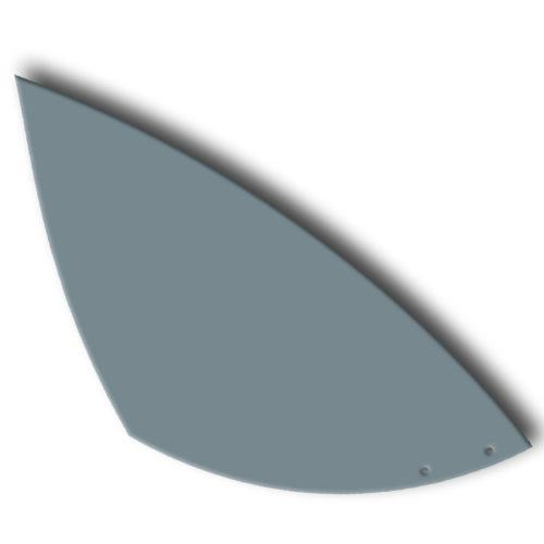 Grey pennant, lacquered steel foil for customizable Calder mobile | Virvoltan