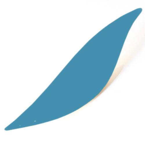 Flamme bleue pale, feuille d'acier laquée pou mobile Calder personnalisable | Virvoltan