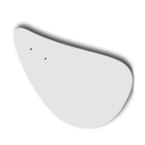 Galet blanc, feuille d'acier laquée pou mobile Calder personnalisable | Virvoltan