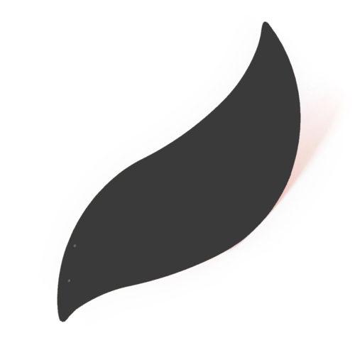Oiseau gris anthracite, feuille d'acier laquée pou mobile Calder personnalisable | Virvoltan